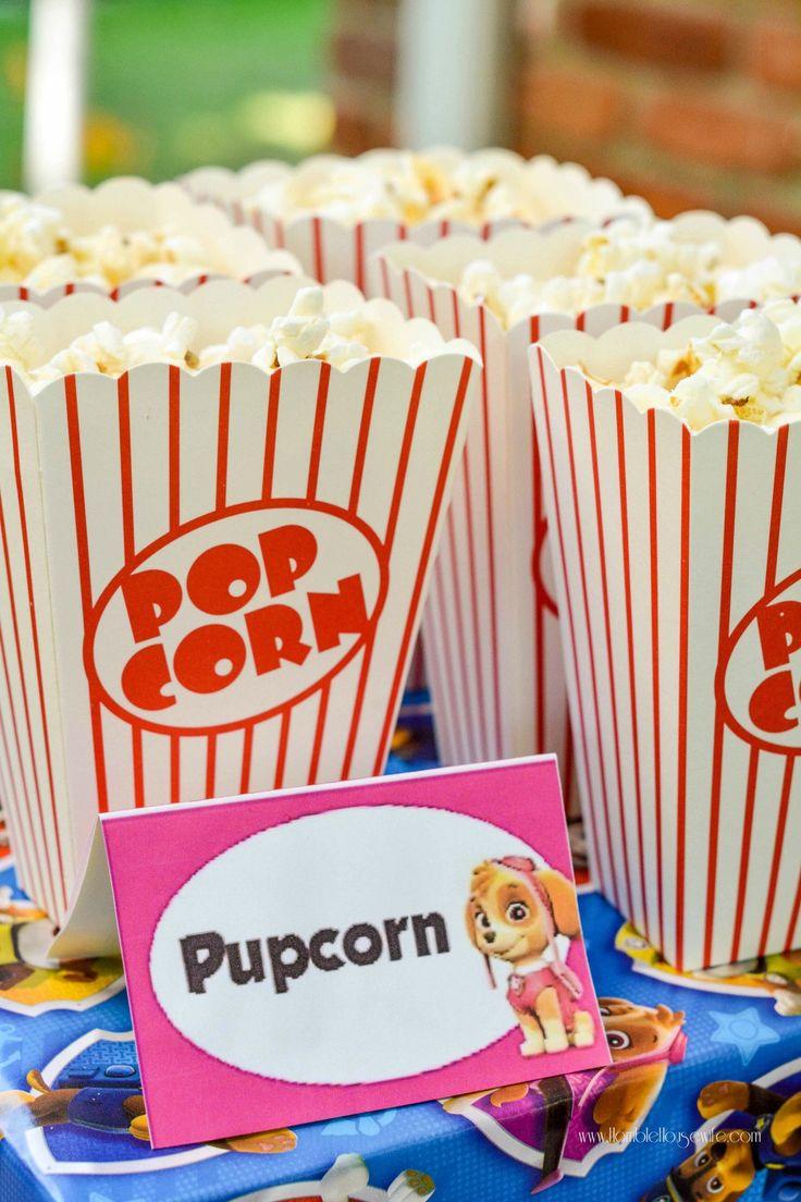 Paw Patrol party food- pupcorn