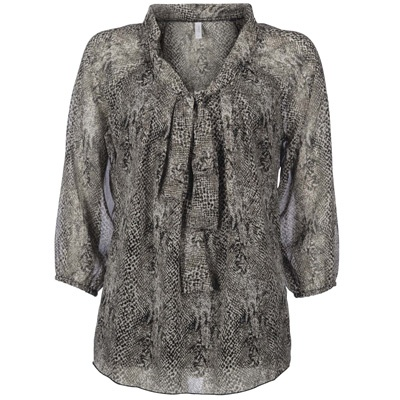 LUX PARTY 3 4 SNAKE CHIFFON TOP - Mrp 1695 - That's my purrrfect choice for the winter afternoon!