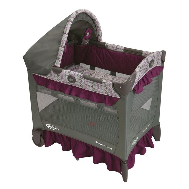 Graco Travel Lite Purple Grey Nyssa Playard Pack N Play