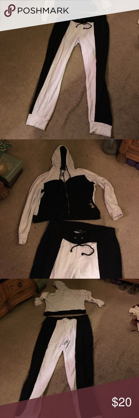 Baby phat sweatsuit 3x baby phat sweatsuit, white and black color, Baby Phat Other
