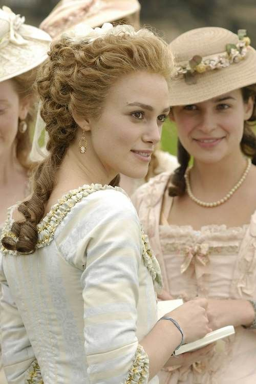 Keira Knightley as Georgiana, Duchess of Devonshire in The Duchess. I need to see this movie!