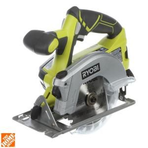 Ryobi, 18-Volt One+ 5-1/2 in. Cordless Circular Saw with Laser