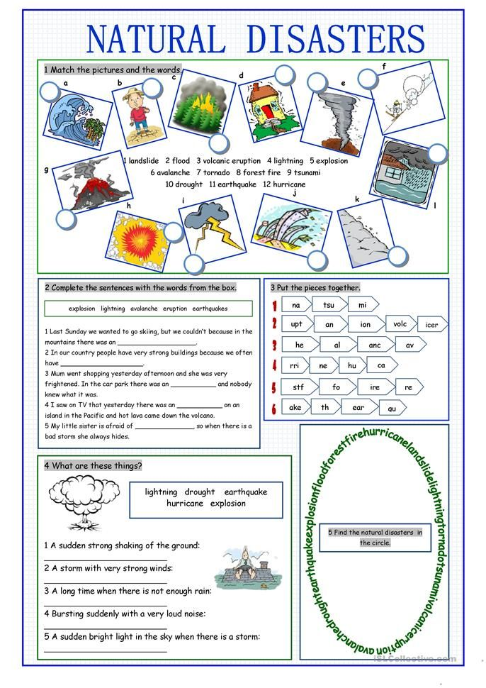 Natural Disasters Vocabulary Exercises Natural Disasters Activities Vocabulary Exercises Natural Disasters Lessons