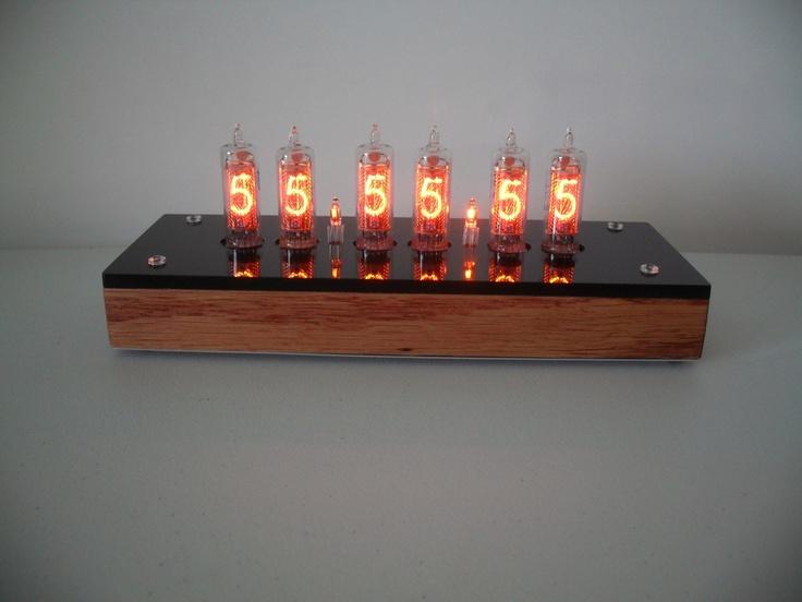 "Six Digit Nixie Tube Clock The ""Quercia Orologio Bella"". $219.95, via Etsy."