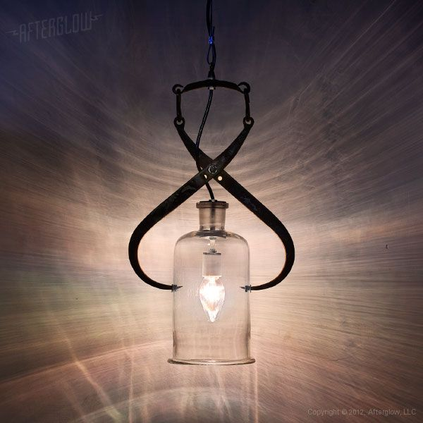 Signature Series - Afterglow Studio.  Use Steve's antique ice tongs to make a pendant light