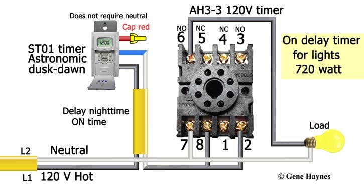 How To Wire Off Delay Timer Timer Electrical Wiring Electronic