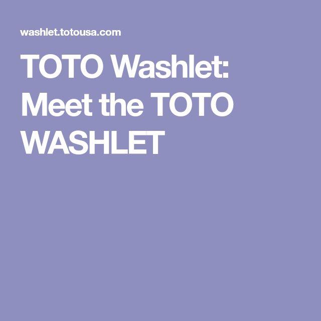 TOTO Washlet: Meet the TOTO WASHLET
