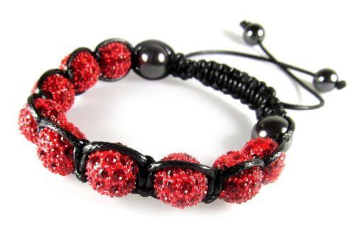 Red Crystal Ball Fireball Bracelet, Adjustable 6 to 9 Inches Beautiful Silver Jewelry. $22.95. Easy To Put On and Take Off, Pull Cord Ends To Adjust. 10mm Red Crystal Ball Bracele. Adjustable Slide Knot, Fits 6 Inches and Up. Arrives In Attractive Gift Box. Nine Red Crystal Ball Beads; Hematite Beads