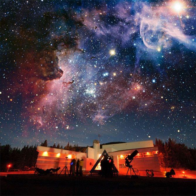 Soirée dans les étoiles à l'ASTROLab du parc national du Mont-Mégantic