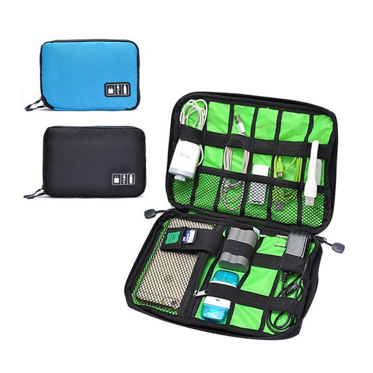 Electronic Accessories Bag For Hard Drive Organizers For Earphone Cables USB Flash Drives Travel Case Digital Storage Bag H1 ** Find out more by clicking the VISIT button