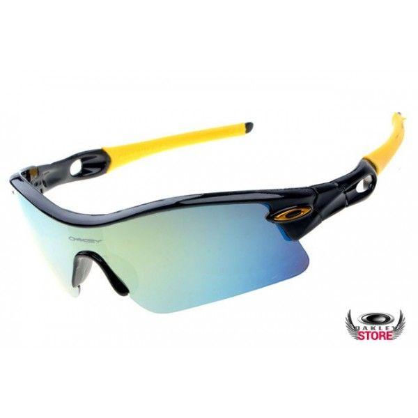 Oakley Radar pitch sunglasses polished black frame / ice iridium lens