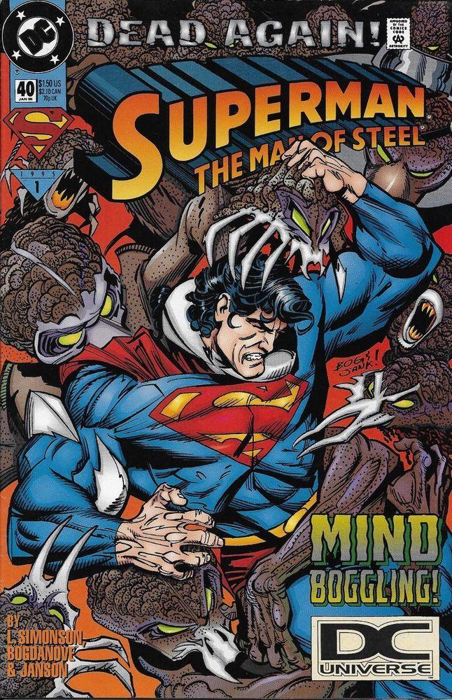 Dc Superman Man Of Steel Comic Issue 40 Superman Comic Books Superman Comic Marvel Comics Vintage