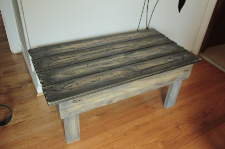 Indoor outdoor coffee table i made from pressure treated