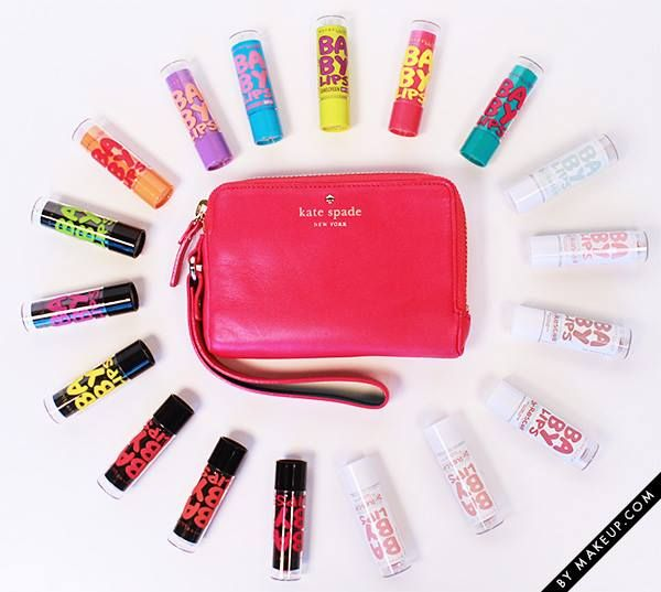 You could win 18 Maybelline New York Baby Lips + a Kate Spade Wristlet // Click this pin to enter!