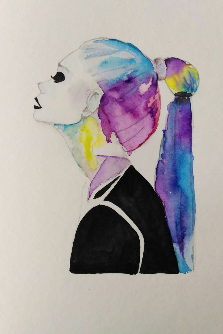 Watercolor girl II