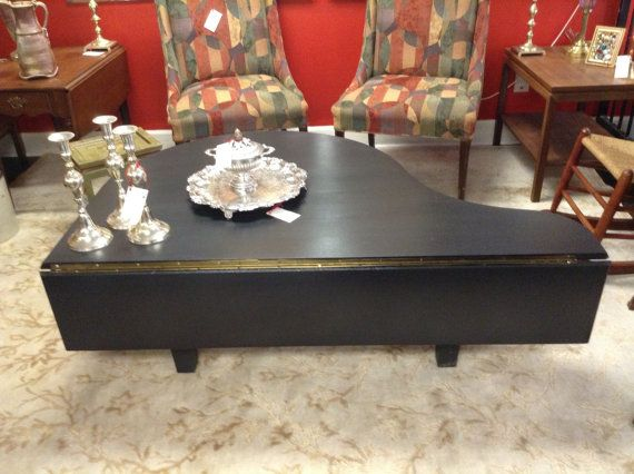Baby Grand Piano #repurposed To A Coffee Table