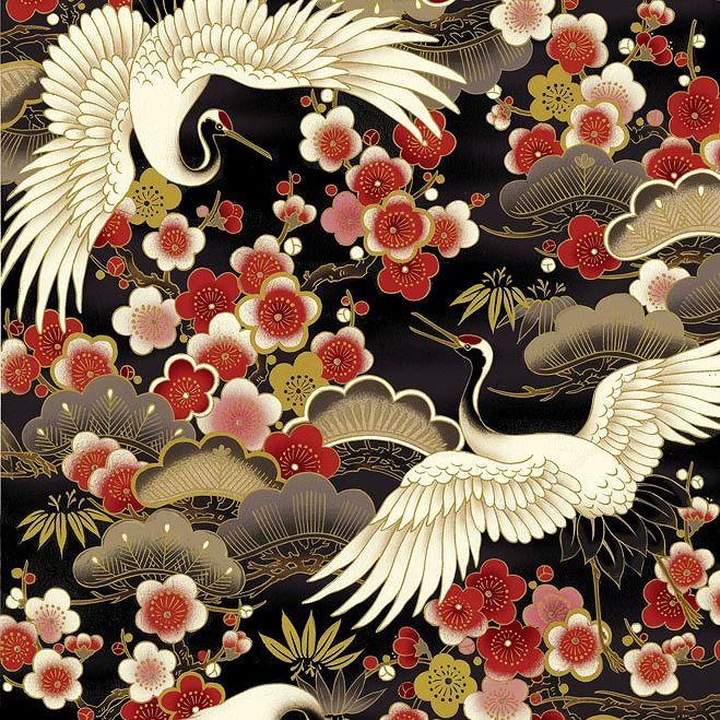 www.quilt-gate.com/eng/ Hyakka Ryoran - 1000 Tsuru HR3940_11E.jpg