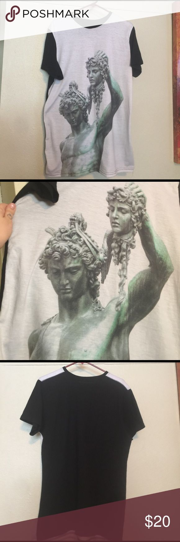 L.A.T.H.C. Shirt Perseus/Medusa statue print. Black and white. Los Angeles Tree House Club from Urban Outfitters Urban Outfitters Shirts Tees - Short Sleeve