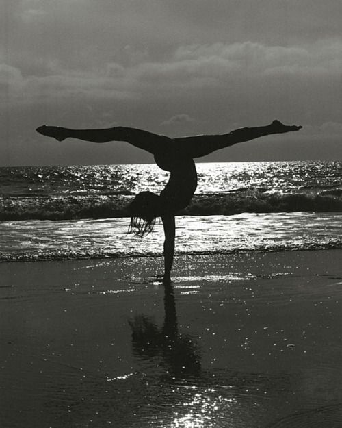 acrobatics on the beach # beach #exercise @http://mixyourlife.tumblr.com/post/11660819006/every-day-may-not-be-good-but-theres