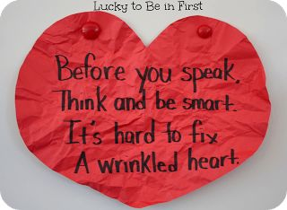 Wrinkled Heart Activity - Lucky to Be in First
