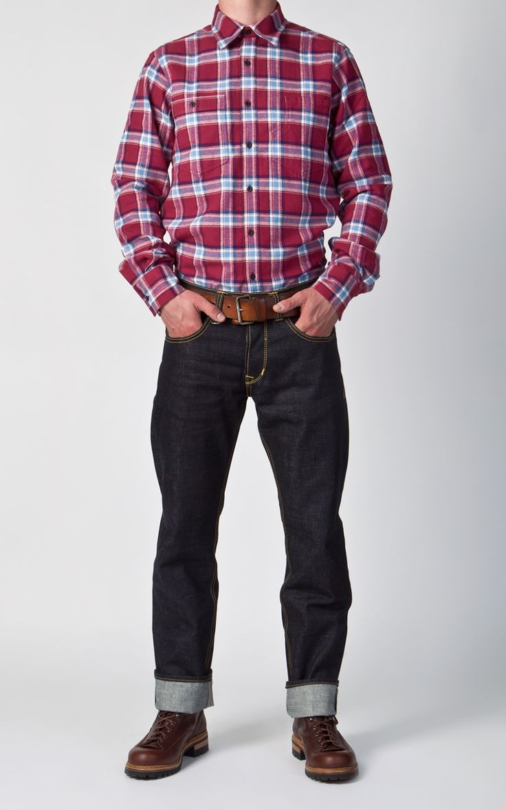 Red flannel and jeans  Pike Brothers  Roamer Shirt Brown Flannel  Shirts Products and