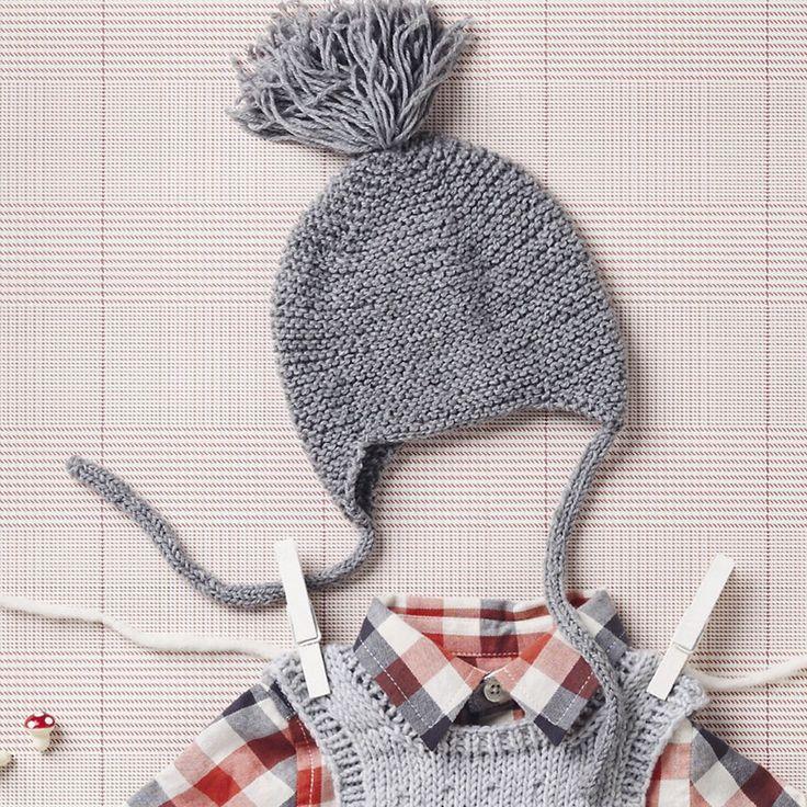 Детская шапочка с помпоном