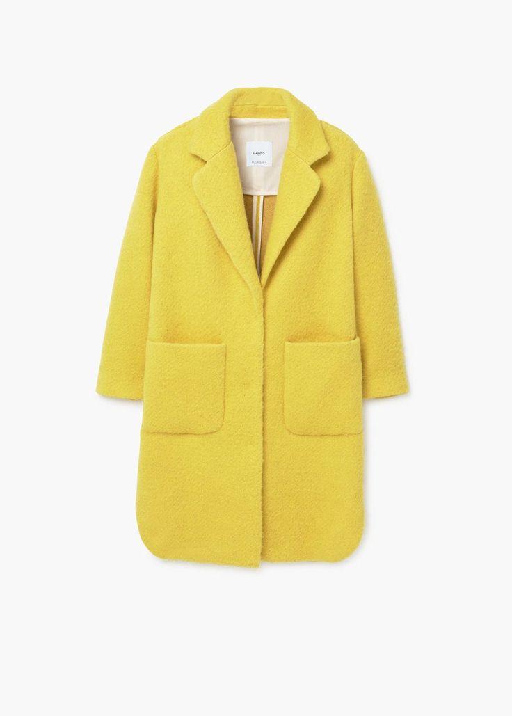 Cotton wool-blend coat | MANGO