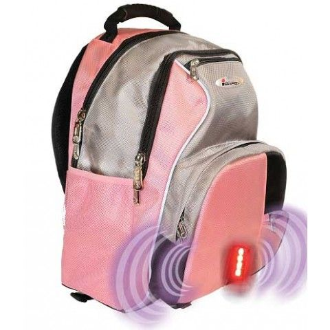Isafe School Backpack Pink