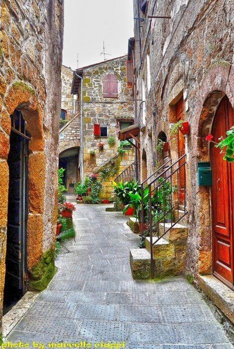 Toscana, Italia, localidad de Pitigliano, en la provincia de Grosseto...