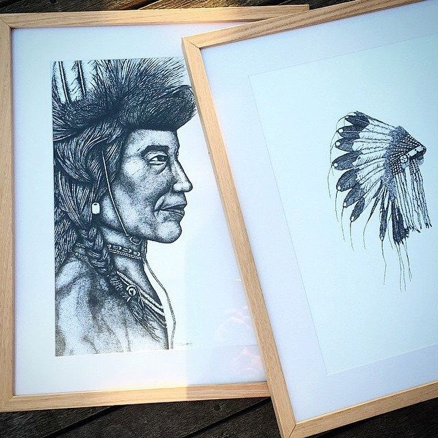 A personal favourite from my Etsy shop https://www.etsy.com/listing/176768657/indian-chiefdots-only