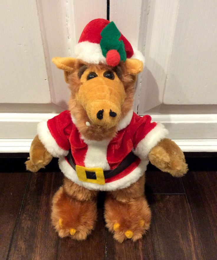 "Vintage 12"" Alf The Alien as Santa Plush Doll, Alf Doll, Alien Plush, Santa Alf, Christmas Alf Doll, Alien Productions Alf, Plush Alf Alien by Lalecreations on Etsy"