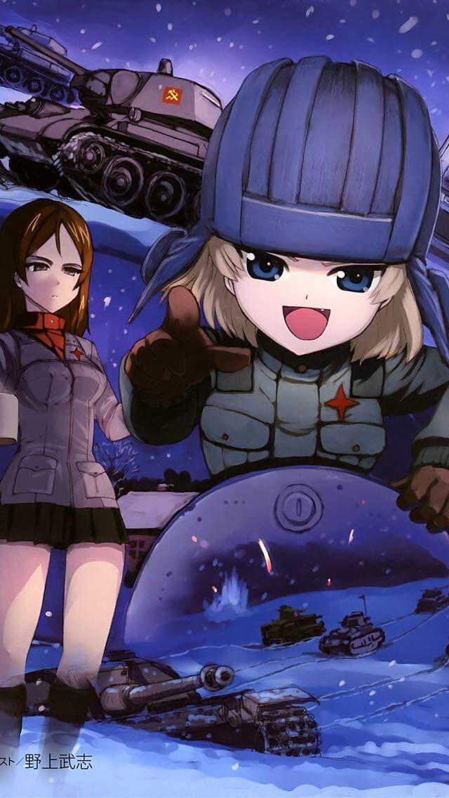 Nonna And Katsyusha Girls Und Panzer Arte De Anime Dibujos Animados Animales Chistosos