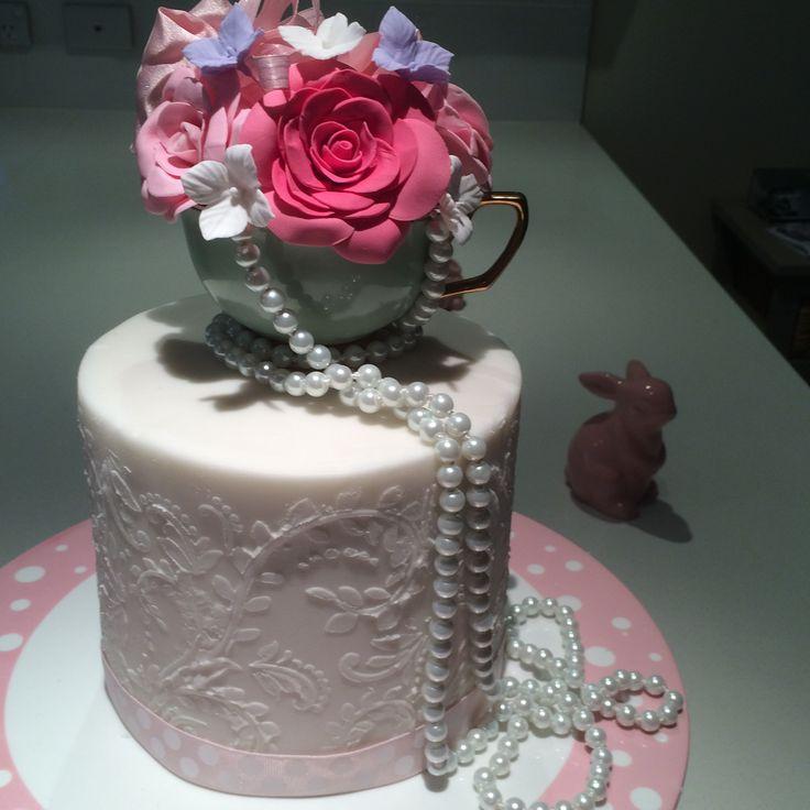 Fondant Cake for Kitchen Tea Party