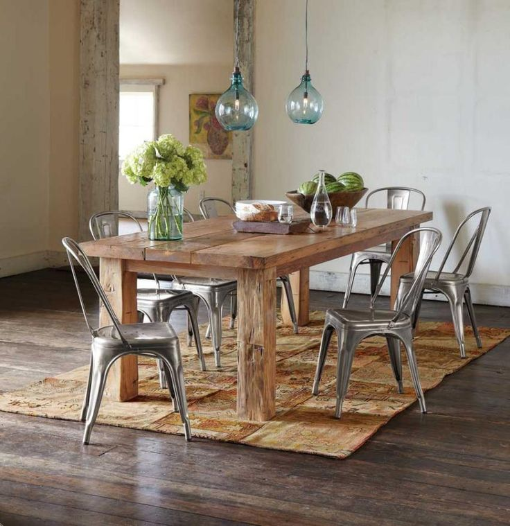 Best 25 Modern Rustic Dining Table Ideas On Pinterest  Brick Extraordinary Rustic Wood Dining Room Tables 2018