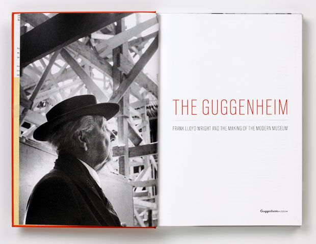 The opening spread shows Wright amidst the construction.