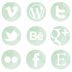 Dress up your blog with 21 beautiful, free buttons to share your social media!