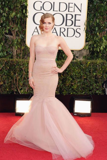 Amy Adams - the actress wore pale Marchesa