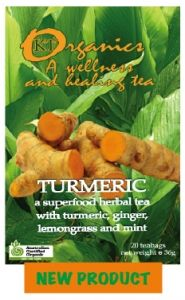 Turmeric is a wonderful herb and one of the most important spices we have. We made this unique organic tea and combined it with ginger (another fantastic root), lemongrass and mint.