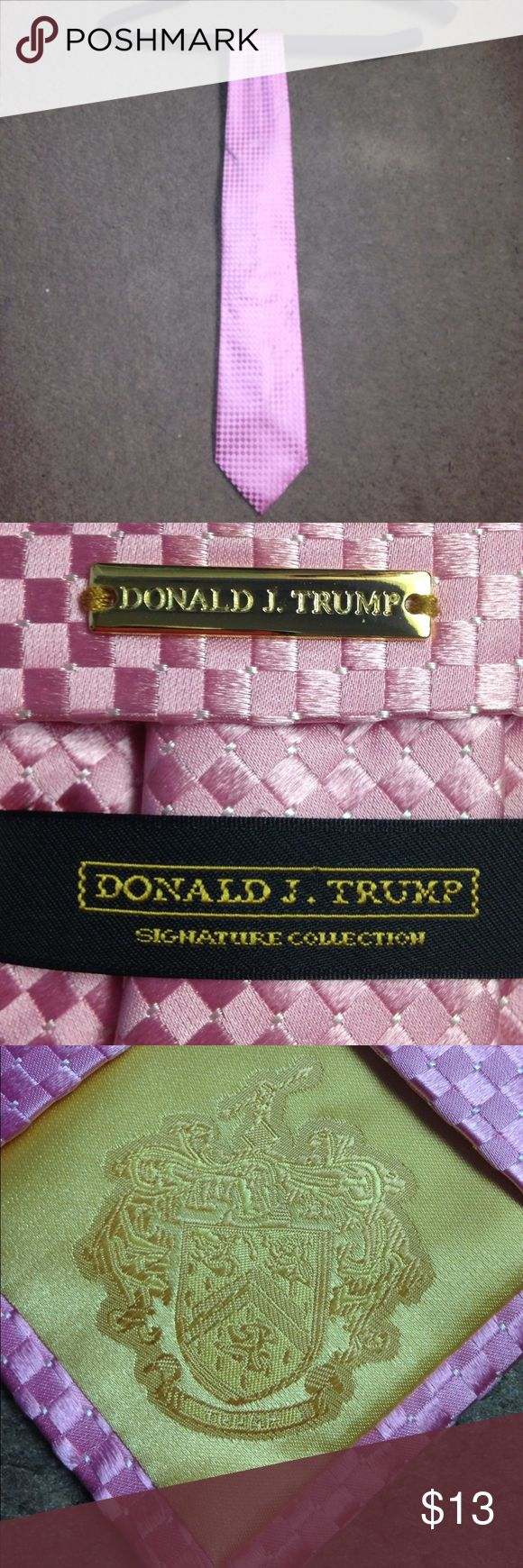 Donald Trump Signature Collection tie 100% silk & authentic. Baby pink. Mint condition. Donald Trump Accessories Ties