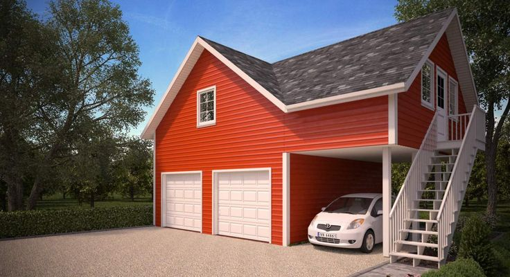 Garage with living space above house and home for Garage designs with living space above