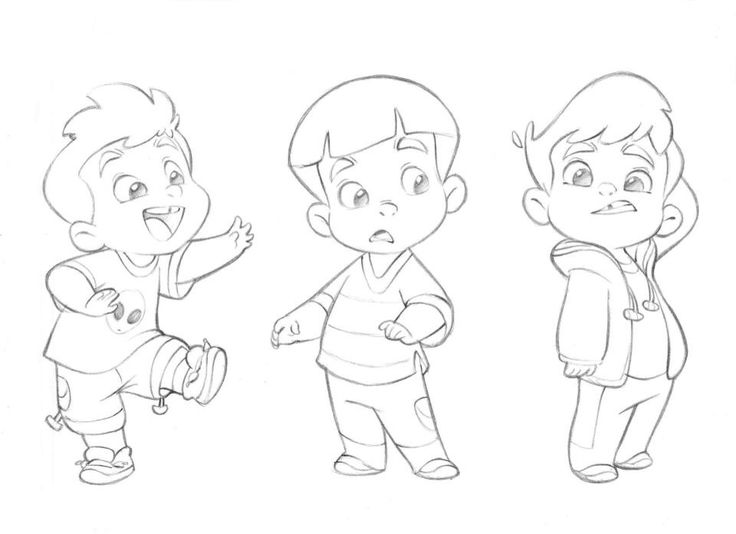 cute little boy concept art sketches by anderson mahanski
