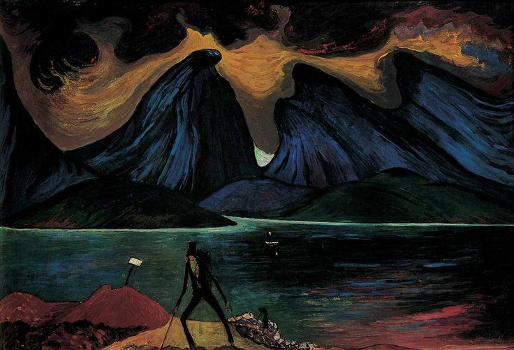 STURM-FRAUEN; Marainne v. Werefkin (1860-1938), Der Lmpensammler, 1917