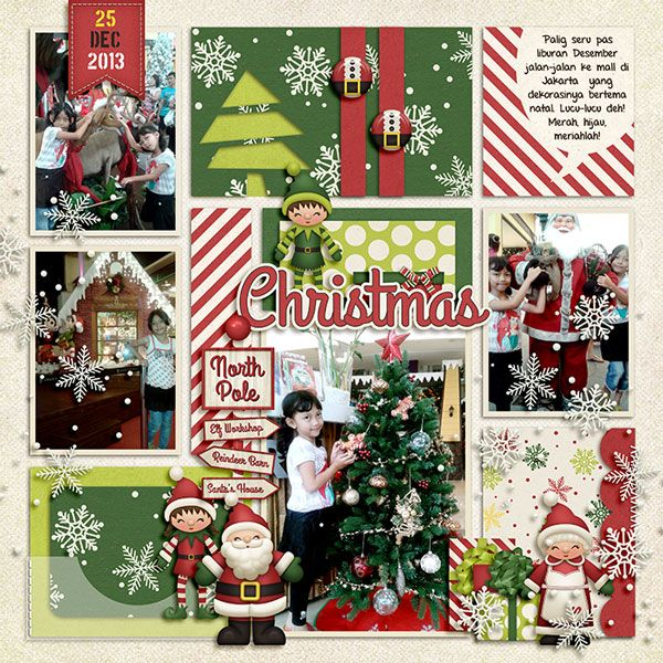 North Pole Christmas by Kristin Aagard. Merry by Little Green Frog Designs.