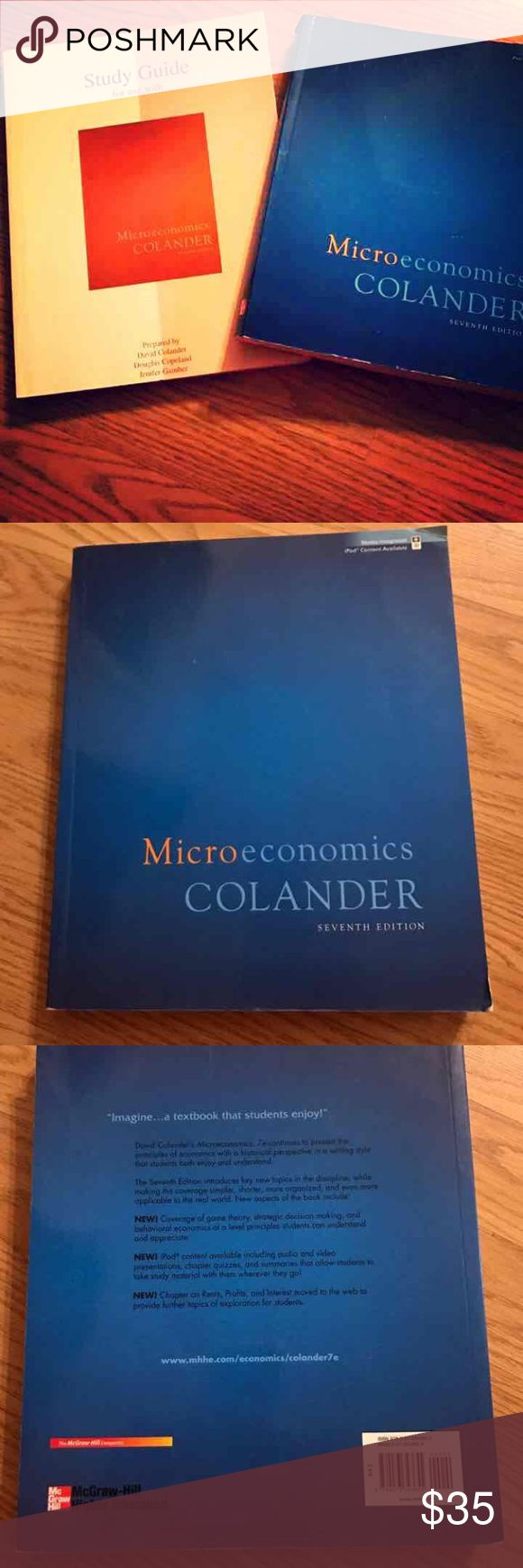 Microeconomics textbook bundle College micro economics textbook and study guide 7th edition Other