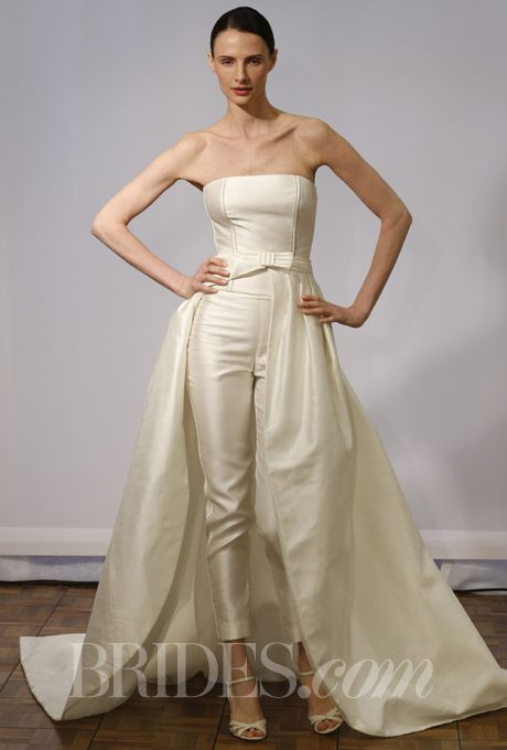 Jumpsuit Blau Elegant Spring 2014 Modern Wedding Dresses From Vera Wang, Monique