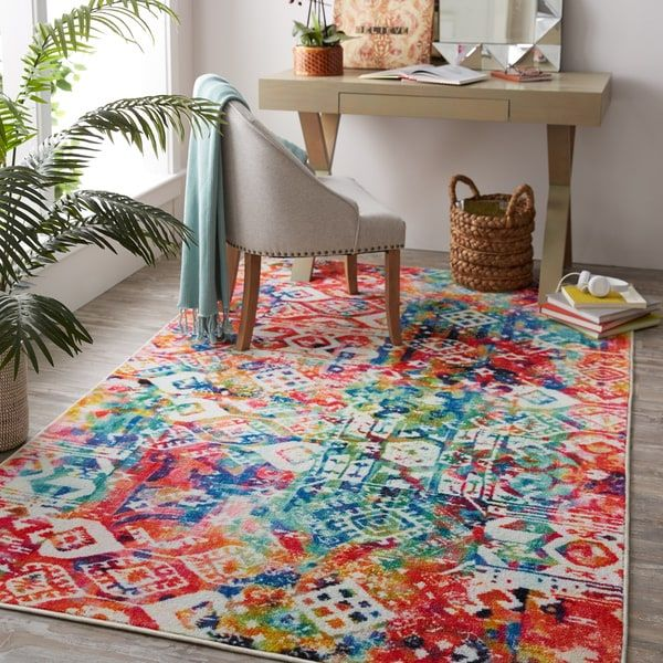 Looking For A Colorful Rug Your E Mohawk Prismatic Nomadic Patchwork Area Combines