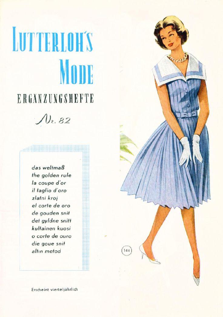 Vintage Lutterloh Sewing Patterns 82 autumn 1961  Patternmaking