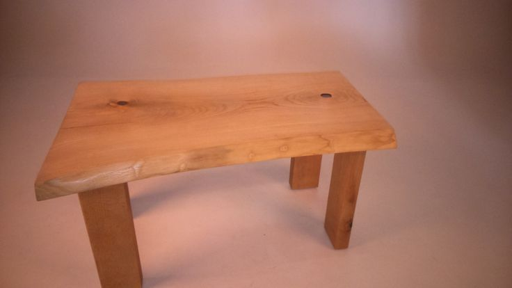 Rustic coffee table, crafted using  Ash for the top surface, and Oak for the legs... all sourced locally in Sussex.