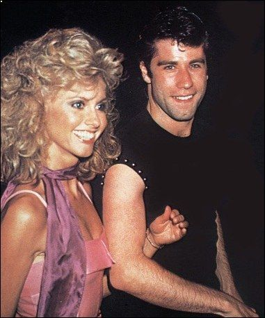 Olivia Newton John and John Travolta at the Grease Premiere