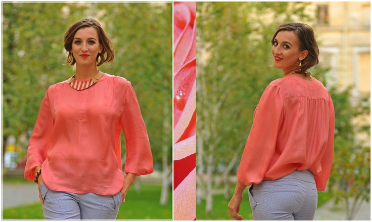 Red is for passion Don't you just love the way it melts on your skin? #silk #red #passion #blouse #colorsoflove #designerlook